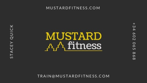 Mustard Fitness Business Card - Back