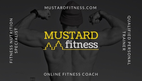Mustard Fitness Business Card - Front